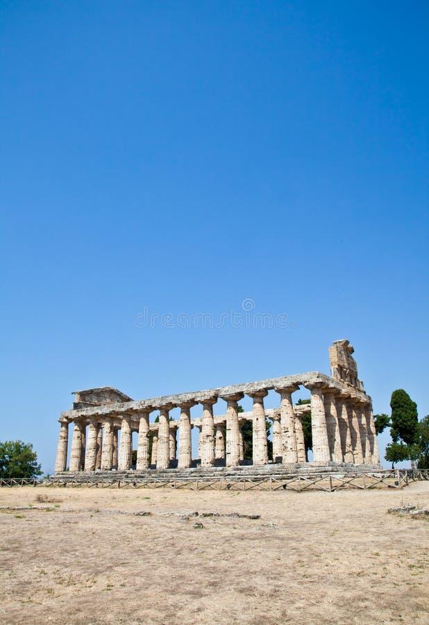 Paestum świątynia - Włochy zdjęcie stock