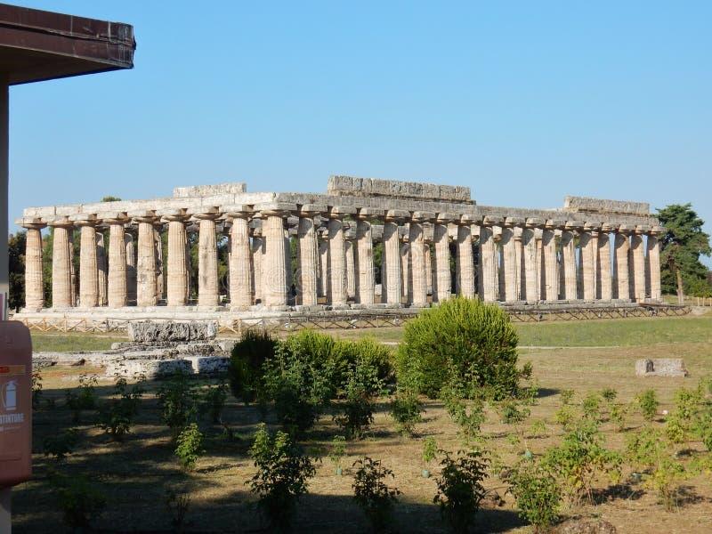 Paestum - le temple de Hera images stock