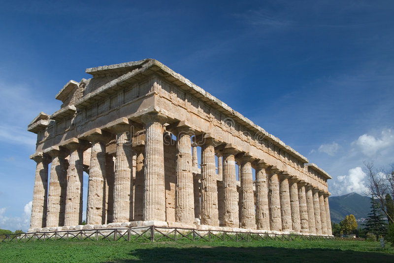 Paestum temple royalty free stock photo