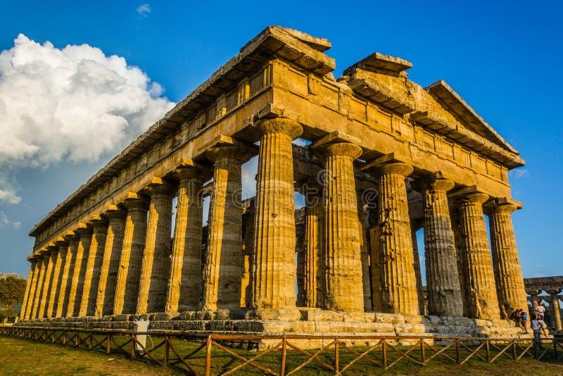 Paestums-Tempel stockfotos