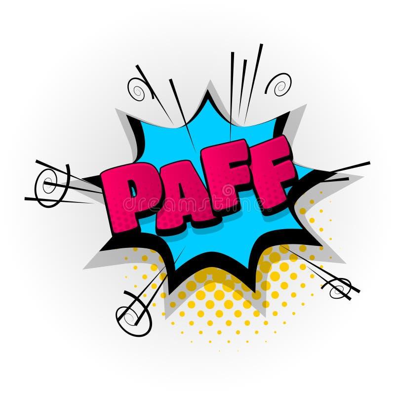 Paff-Kriegsgefangencomic-buch-Textpop-art stock abbildung