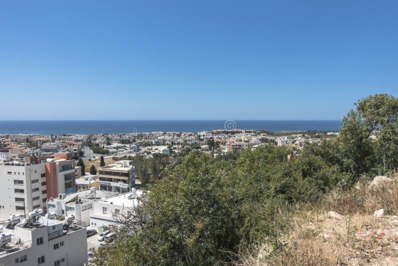 Pafos, widok od wierzchołka obrazy royalty free