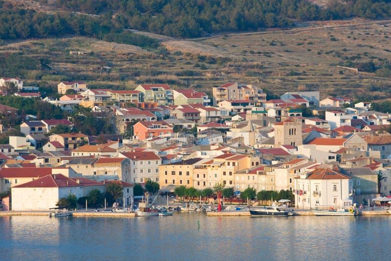 Pag, τοπία στην Κροατία στοκ εικόνα