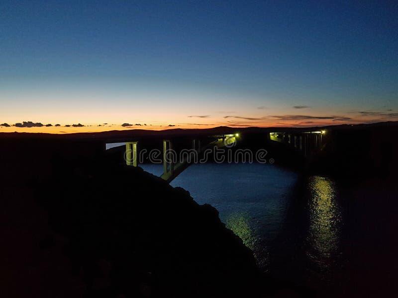 Pag bridge. The nature of Pag bridge stock photo