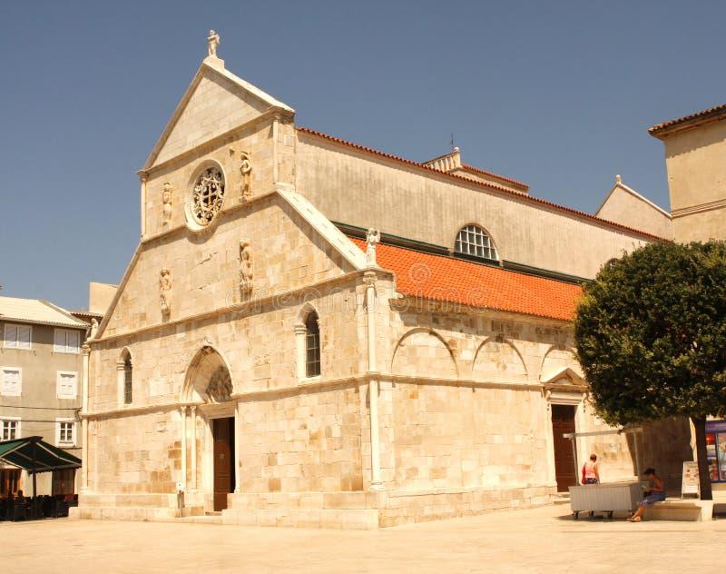 Pag church - Croatia royalty free stock image