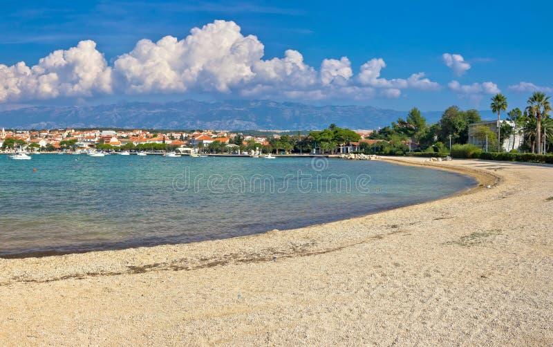 Pag island, Novalja village beach. Dalmatia, Croatia stock photo
