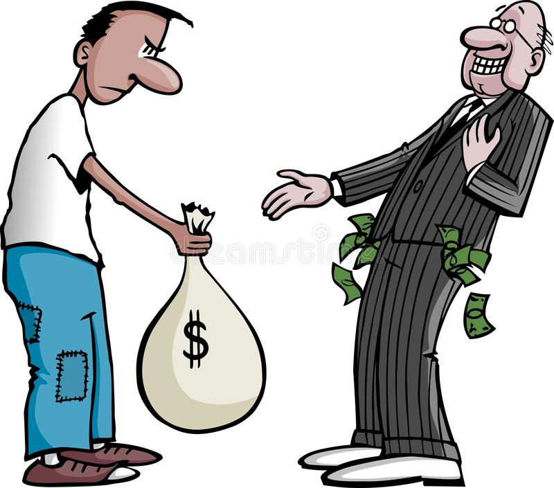 Pagador de impuestos stock de ilustración