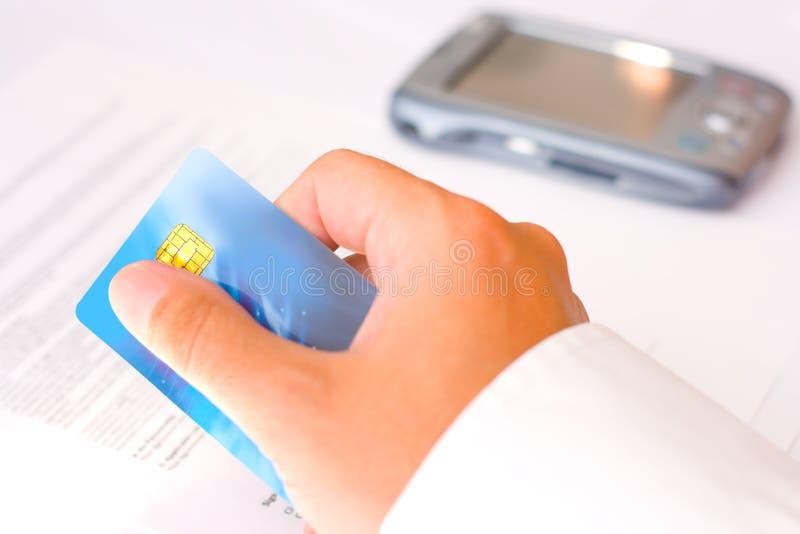 Pagamento con la carta di credito fotografia stock