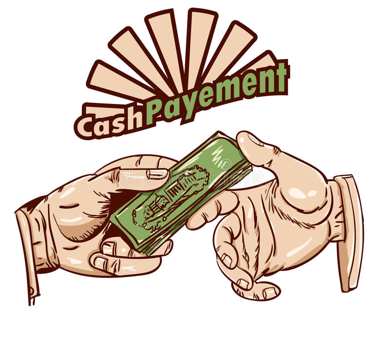 Pagamento in contanti illustrazione di stock