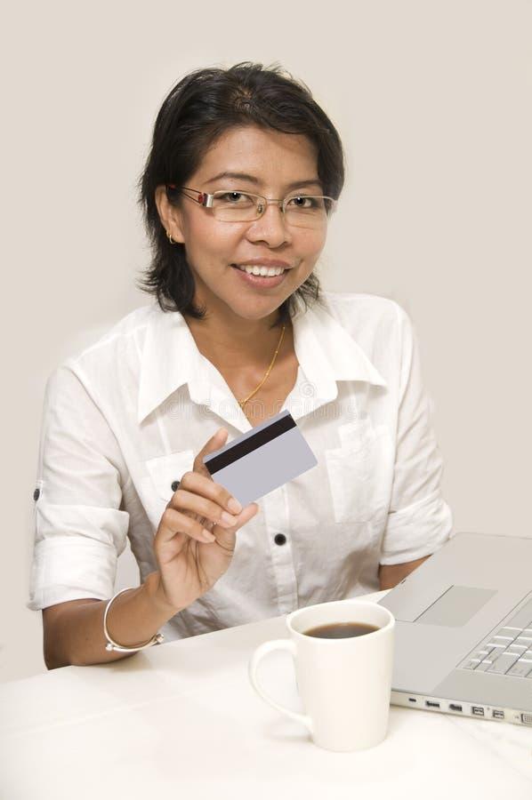 Pagamento di carta di credito fotografie stock
