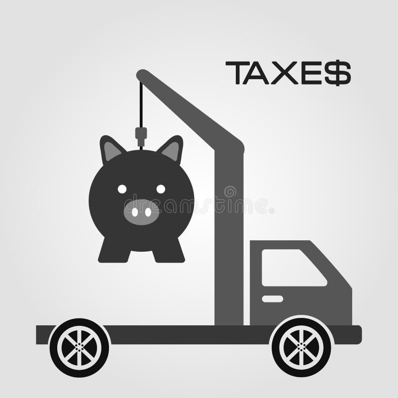 Pagamento di imposte illustrazione di stock