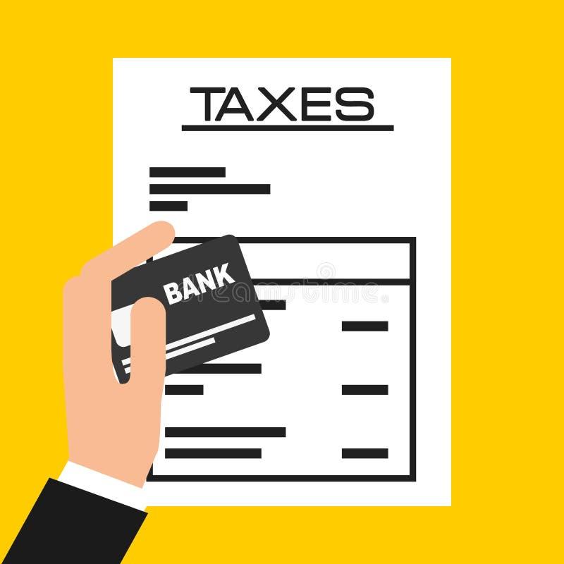 Pagamento di imposte illustrazione vettoriale