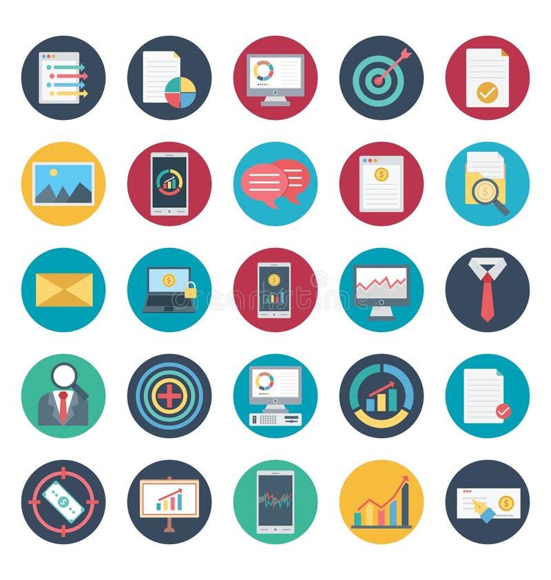 Pagamento e finanza isolati ed icone di vettore messe per consistere con attività bancarie, finanza, il pagamento e le icone rela illustrazione di stock
