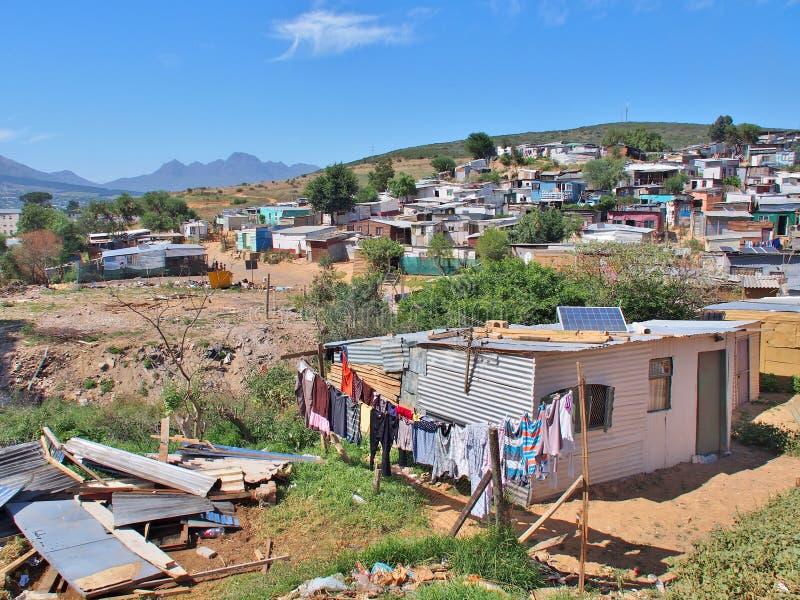 Pagamento informal em África do Sul com painéis solares fotos de stock royalty free