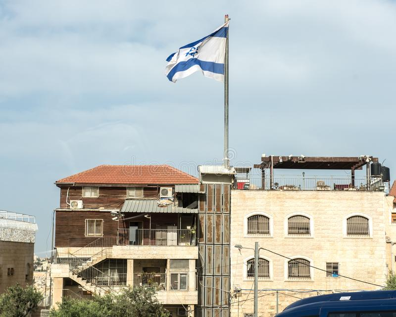 Pagamento israelita no Monte das Oliveiras palestino imagem de stock