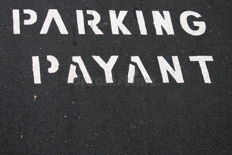 Pagamento para estacionar em francês fotos de stock