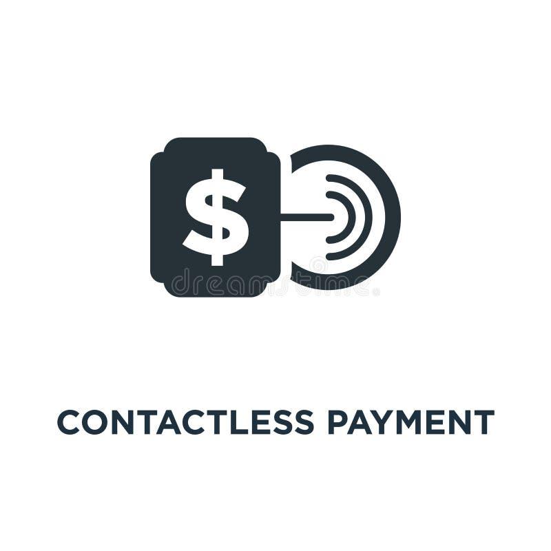 pagamento senza contatto con l'icona della carta rubinetto per pagare lo symb di concetto del segno royalty illustrazione gratis