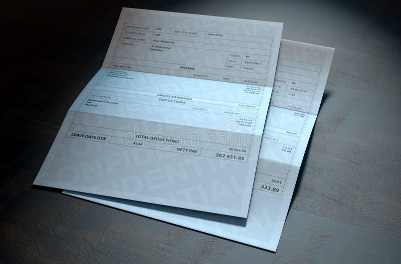 Pagamentos da desigualdade da renda ilustração royalty free