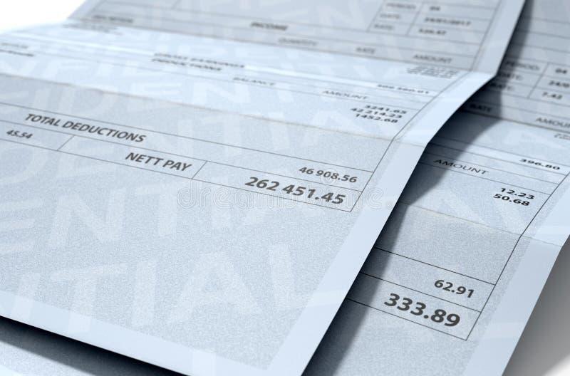 Pagamentos da desigualdade da renda ilustração do vetor