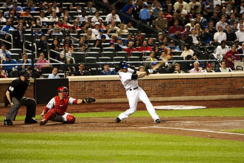 Pagan del ángel - jugador de béisbol de Mets imagen de archivo