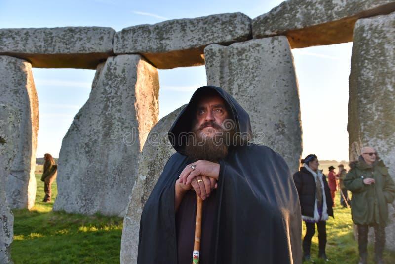 Pagans отметят равноденствие осени на Стоунхендже стоковые фото