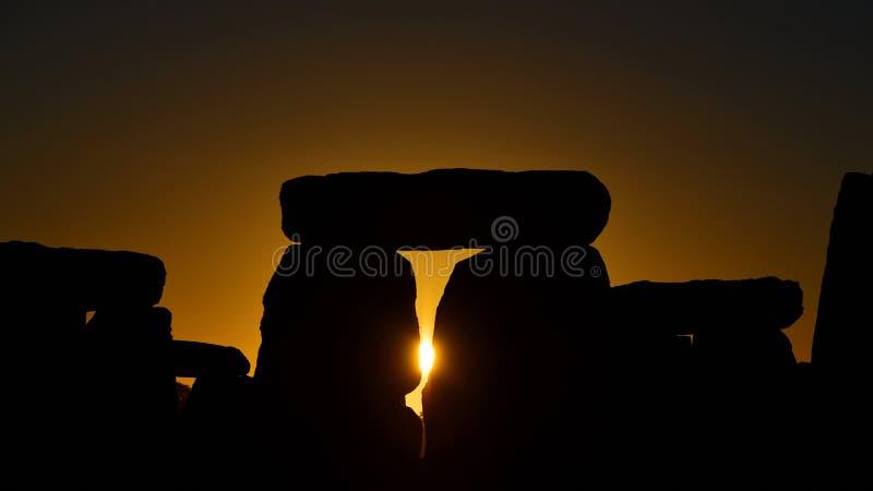 Pagans отметят равноденствие осени на Стоунхендже стоковая фотография rf