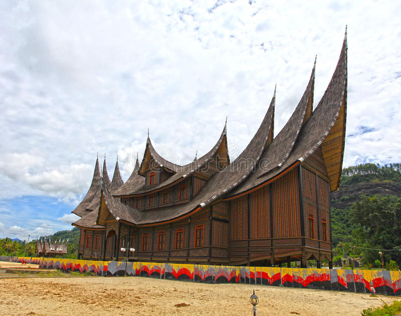 Pagaruyung Palace in West Sumatra, Indonesia royalty free stock images