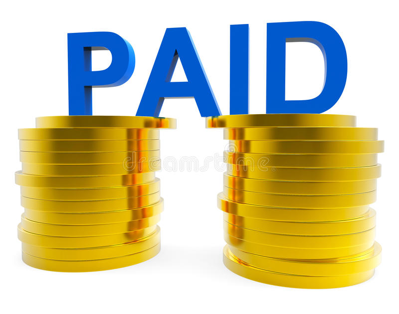Pagato in contanti rappresenta le fatture ed il risparmio di valuta royalty illustrazione gratis