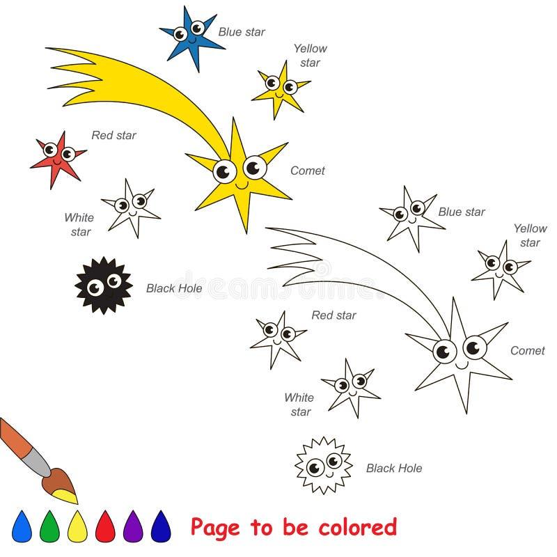 Page à colorer, jeu simple d'éducation pour des enfants illustration stock