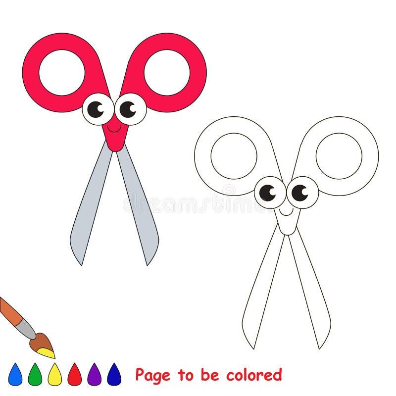 Page à colorer, jeu simple d'éducation pour des enfants illustration de vecteur