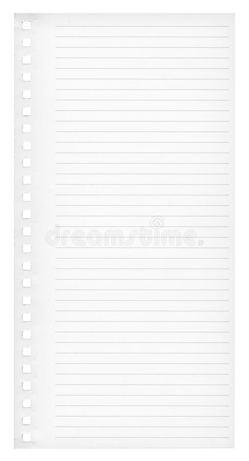 Page. Workbook page paper texture with lines royalty free stock photos