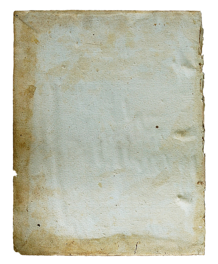 Page from the ancient book. On a light background stock image