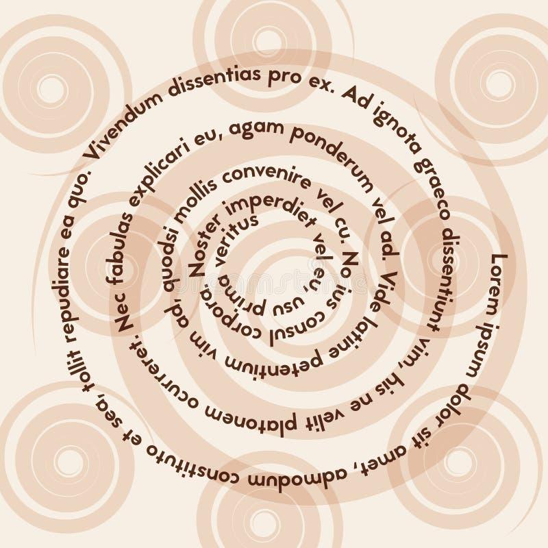 Page avec le texte La lecture d'une personne avec la dyslexie illustration libre de droits