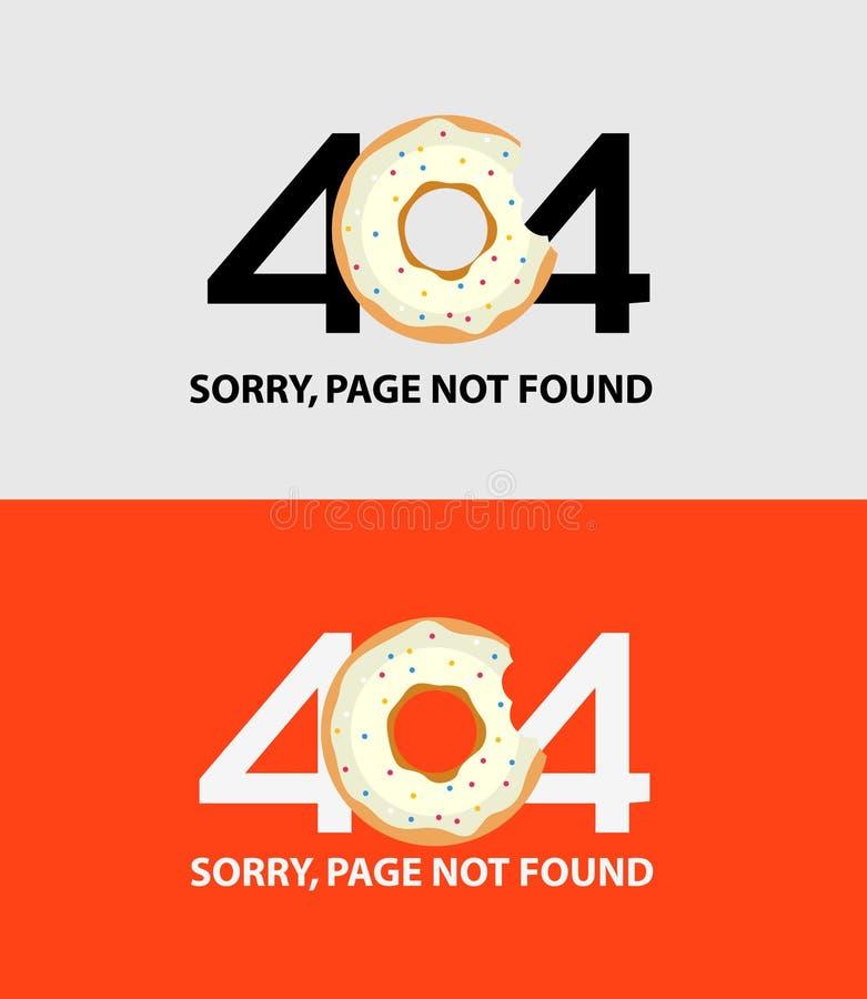 Page avec une erreur 404 illustration libre de droits