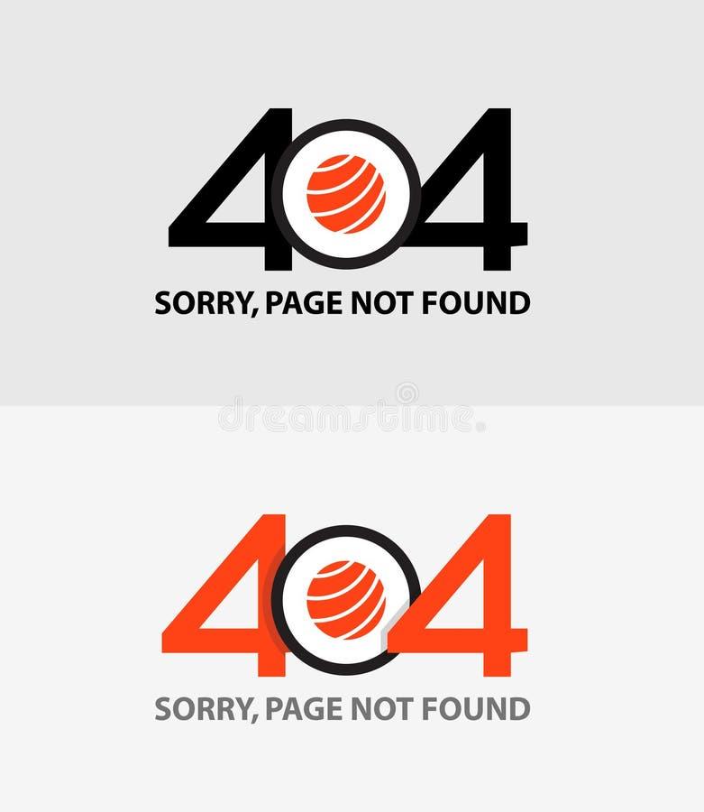 Page avec une erreur 404 illustration de vecteur