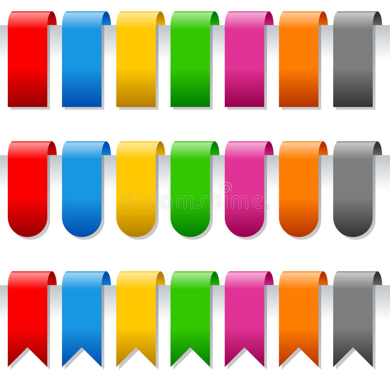 Page Bookmarks Or Labels Set Stock Image