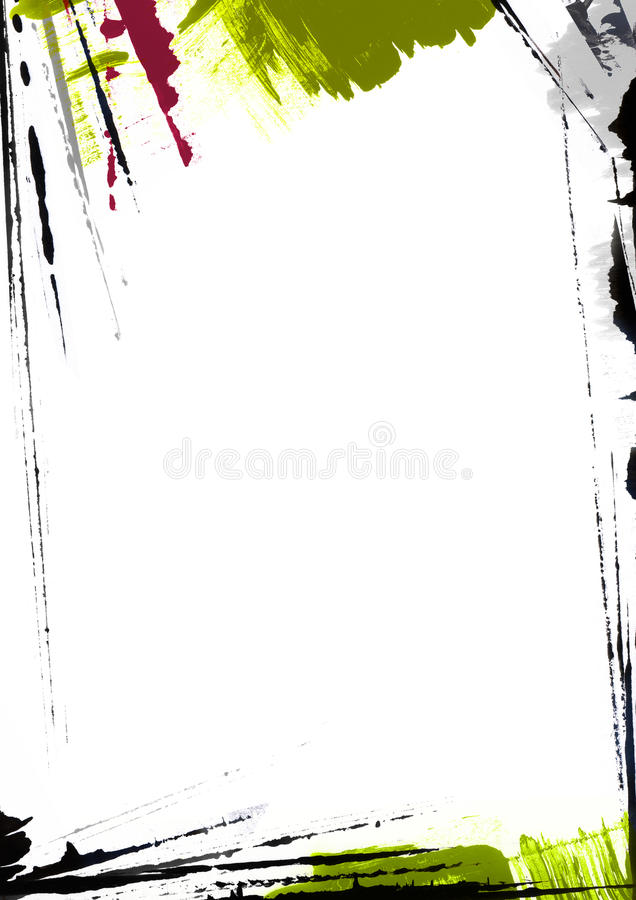 Download Page Border Painting stock illustration. Image of grunge - 25652461