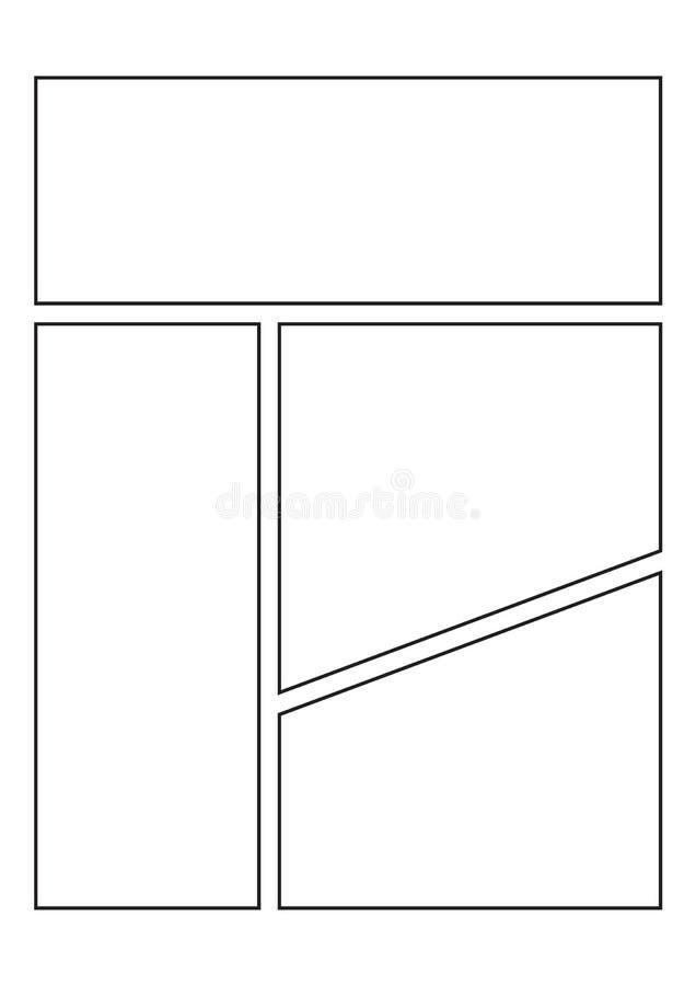 Page comique de carnet à dessins illustration stock