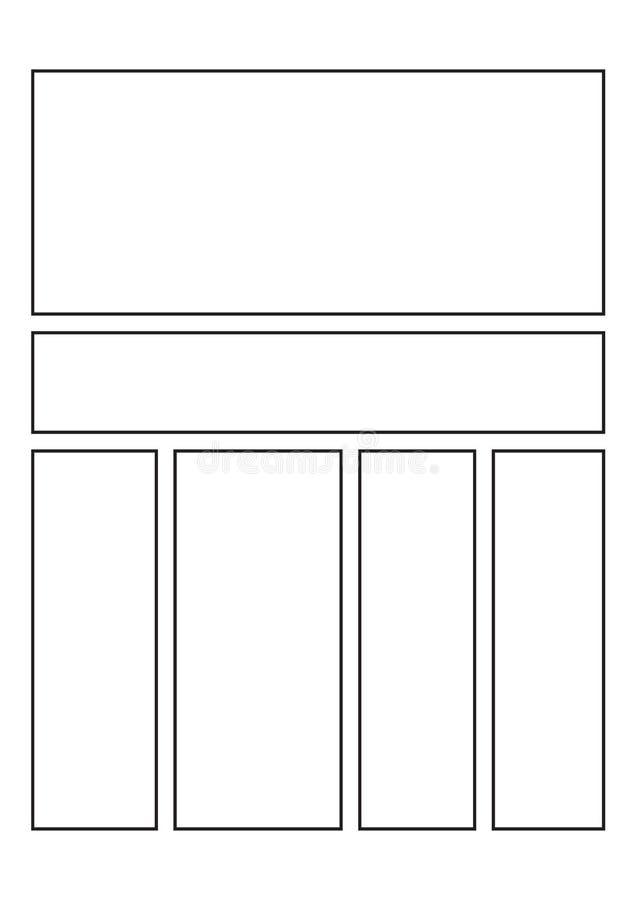 Page comique de carnet à dessins illustration libre de droits