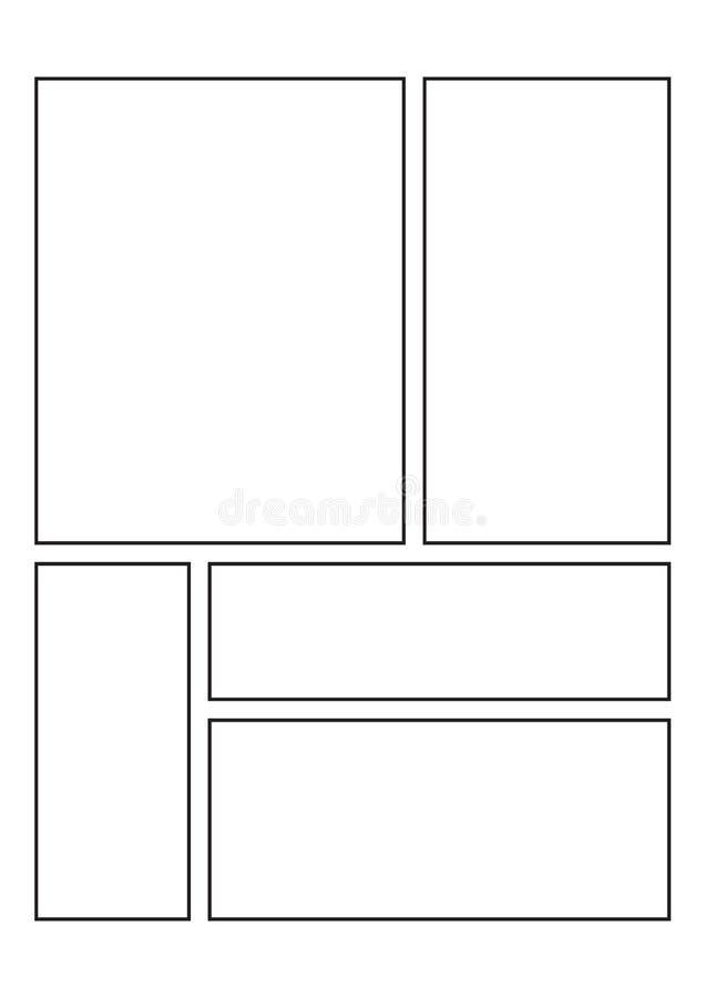 Page comique de carnet à dessins illustration de vecteur