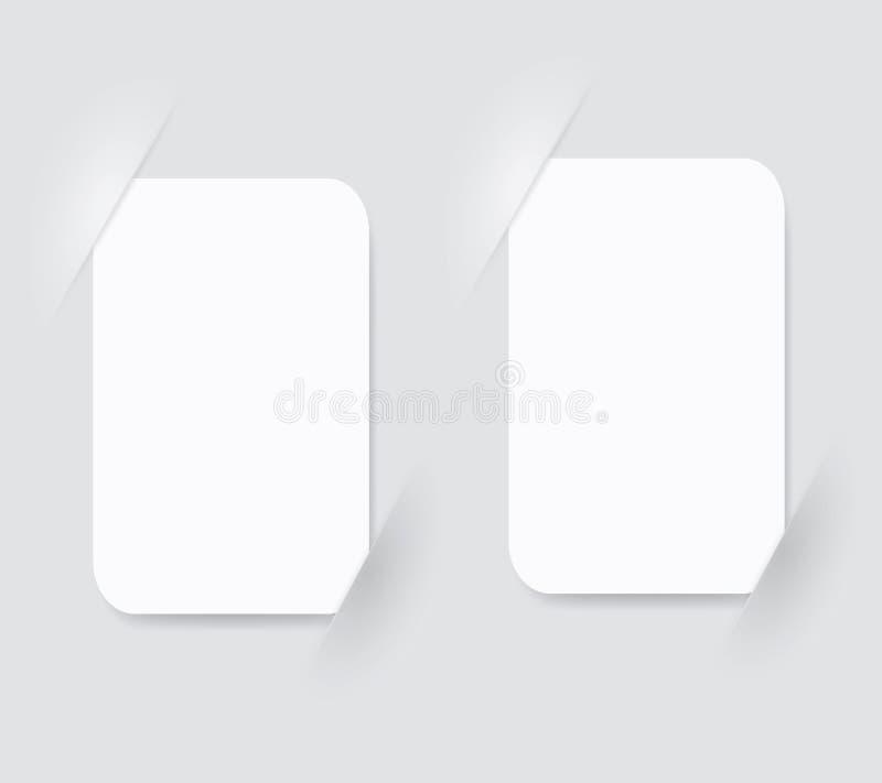 Page composée avec des places pour la photo, eps10 illustration de vecteur