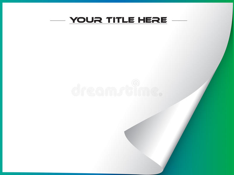 Download Page Curl Vector With Copyspace Stock Vector - Image: 25190160