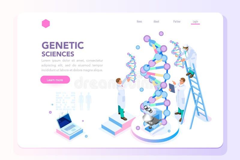 Page d'accueil biotechnologique de biochimie de laboratoire de la génétique illustration stock