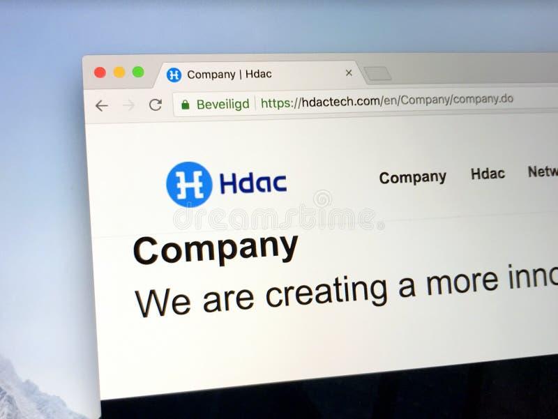 Page d'accueil de HDAC - moteurs de Hyundai images libres de droits