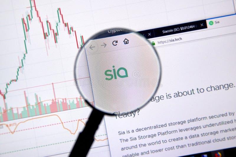 Page d'accueil de Siacoin photographie stock libre de droits