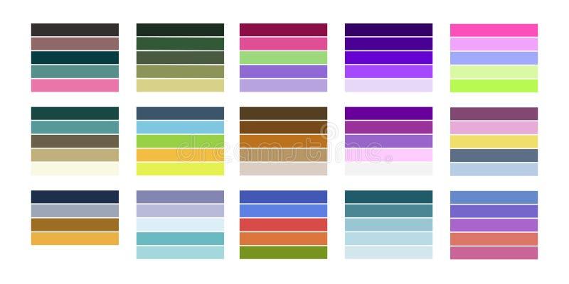 Page d'essai d'impression couleur illustration libre de droits