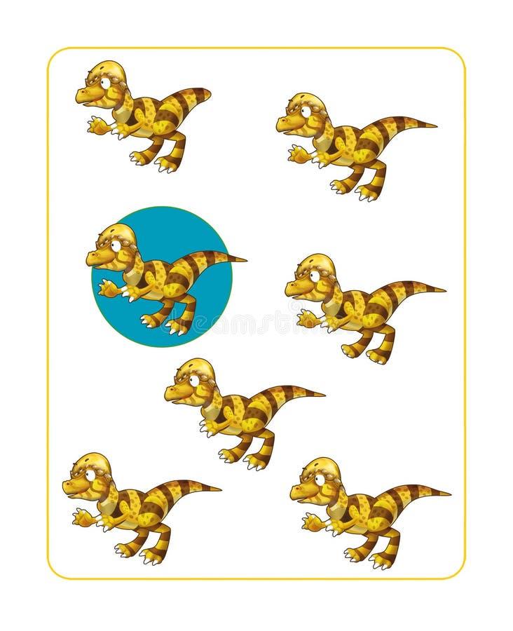 Download Page D'exercice De Dinosaure De Bande Dessinée Illustration Stock - Illustration du horizontal, lumineux: 76076042