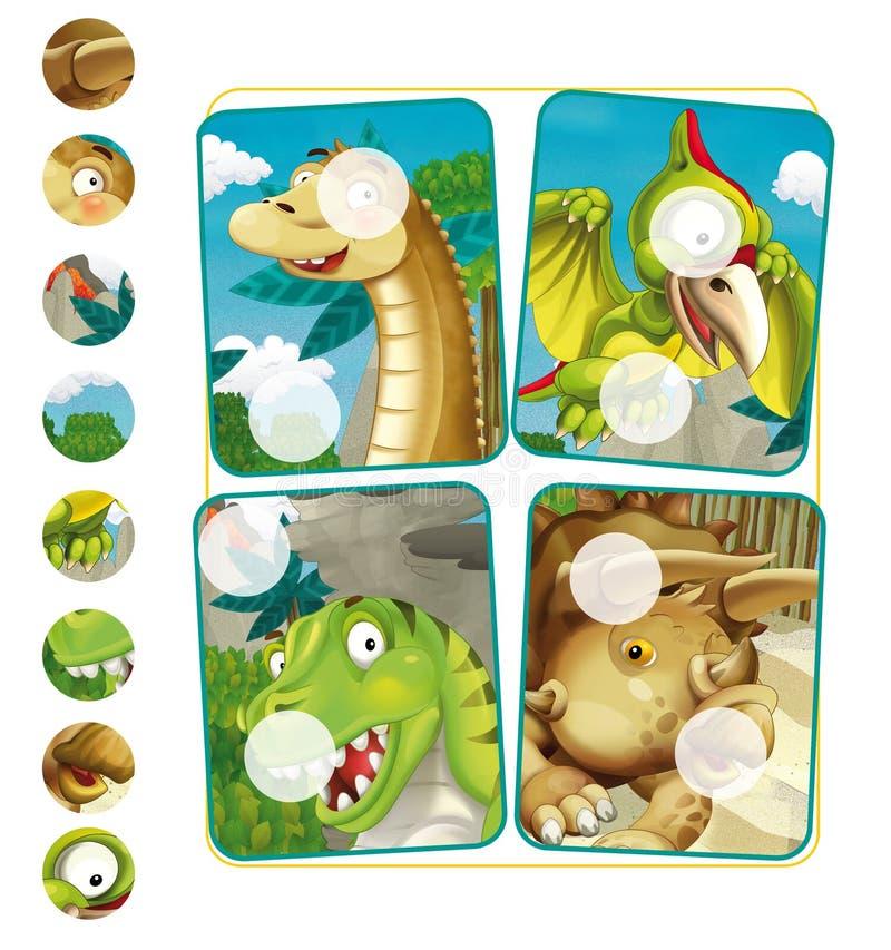 Download Page D'exercice De Dinosaure De Bande Dessinée Illustration Stock - Illustration du modèle, dessin: 76079591