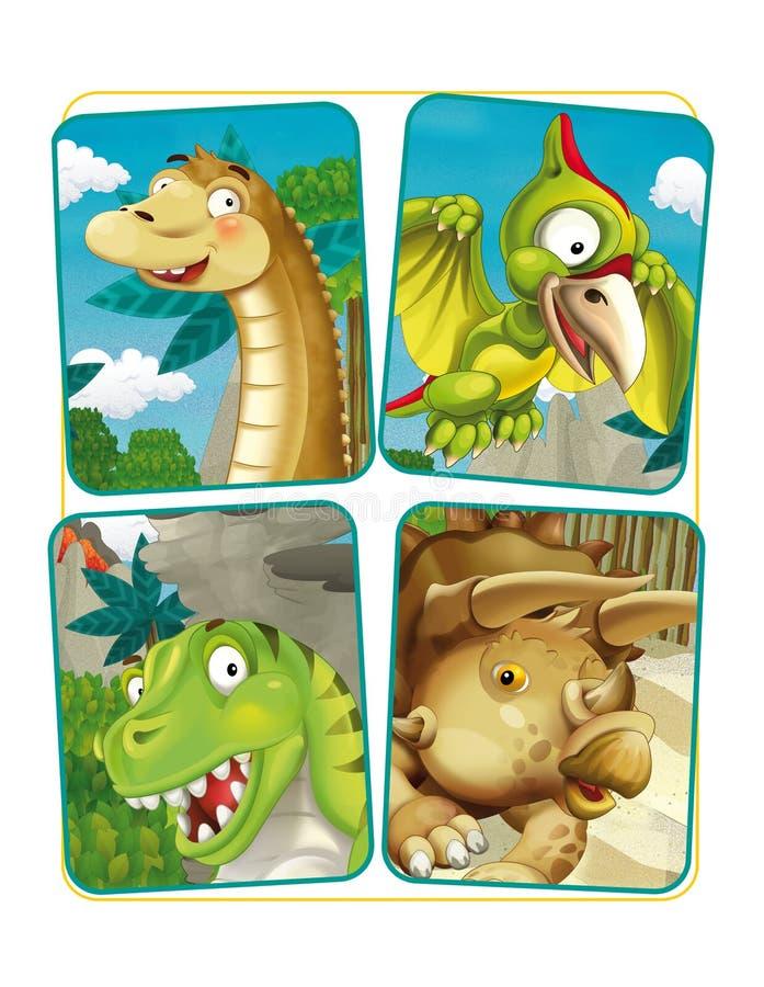 Download Page D'exercice De Dinosaure De Bande Dessinée Illustration Stock - Illustration du bête, jungle: 76079966