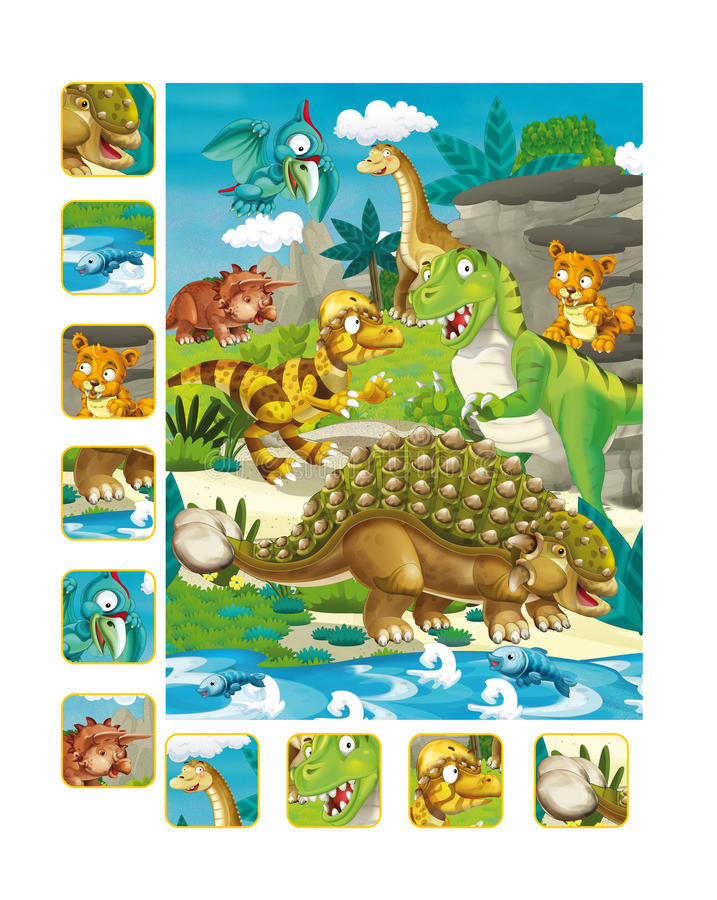 Download Page D'exercice De Dinosaure De Bande Dessinée Illustration Stock - Illustration du dinosaur, lumineux: 76081214